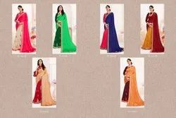 heavy embodery work saree 60 GRAM SAREES, Size: Free Size, 5.5 m (separate blouse piece)
