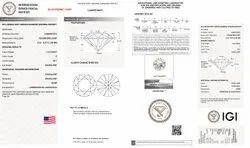 1.00ct Lab Grown Diamond CVD F VS1 Round Brilliant Cut Type2A