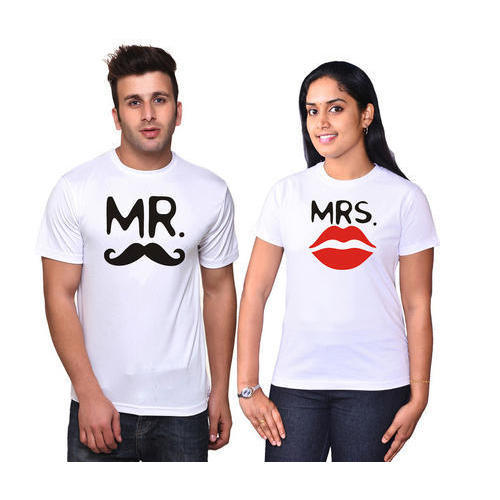 55f7b80cc Osiyankart White Couple T Shirts, Size: XL, Rs 399 /pair   ID ...