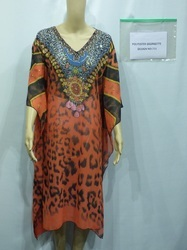 DIGITAL PRINTED COTTON KAFTAN