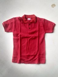 Boy Maroon Polo T-Shirt