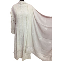 Cotton Pink Designer Lucknowi Suit