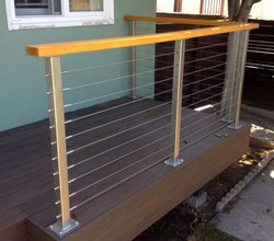 Balcony Stainless Steel Cable Railing, For Home, Mounting Type: Wall
