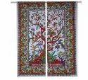 Indian Cotton Mandala Door Window Valance Curtain Drapes