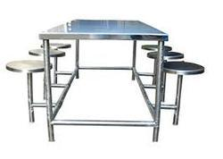 Grey Color Metal Dinning Table