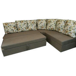 The Woodville Brown Living Room Sofa Cum Bed