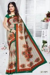 Prerna With BP Cotton Saree, Length: 6.3 m with Blouse Piece