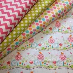 Organic Cotton Poplin Multi Color Printed Fabric
