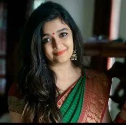 SHV Pure Cotton Annum check Sungudi saree, Without Blouse, 5.5 m