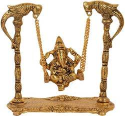 Gold Plated Ganesha Swing Jhoola