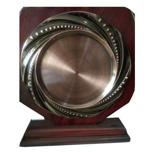 Metal Plated Wooden Frame Shield Frame Shield National Trophy