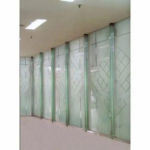 Acid Etched Decorative Transparent Glass