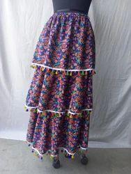 Printed Ladies Three Tear Skirt