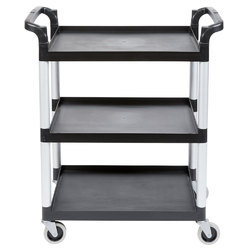 Cambro bc340kdp110 black polypropylene single shelf panel set
