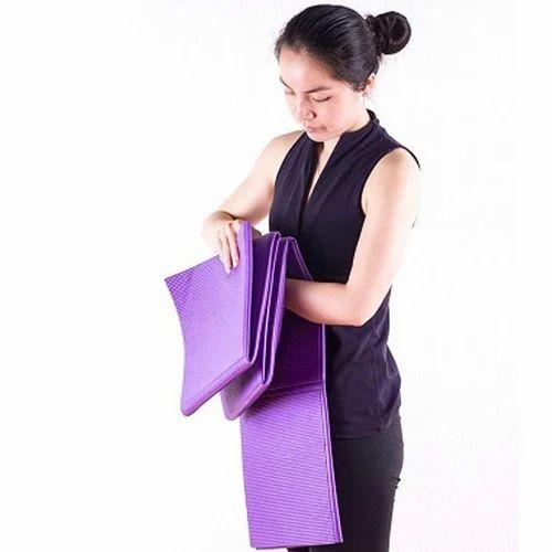 Purple Folding Yoga Mat, Rishab Sports