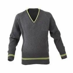 Winter Woollen Grey School Sweater, Size: 22 to 42