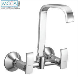 Chrome Plated Wall Mounted Sink Mixer