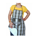 Checked Kitchen Apron For Men And Women