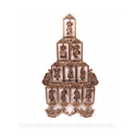 24 Inches Brass Dashavatar Wall Hanging Decorative Statue