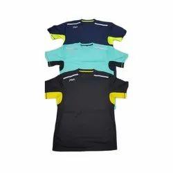 Polyester Plain Mens V-Neck T-shirts, Size: Small