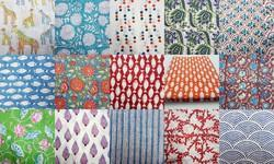 Indian Hand Block Print Cotton Fabric For Garments