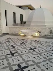 Hand Printed Ceramic Floor Tiles