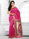 Pink Womens Silk Saree