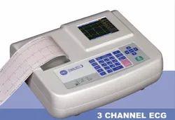 RMS VESTA 301 3CH ECG Machine, Automatic, Portable