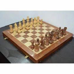 18 Travel Folding Sheesham Wood Chess Set