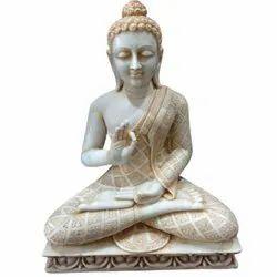 2.5 Feet Marble Buddha Statue