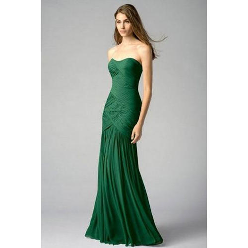 966845fa004 Silk Dark Green Sleeveless Bridesmaid Dress