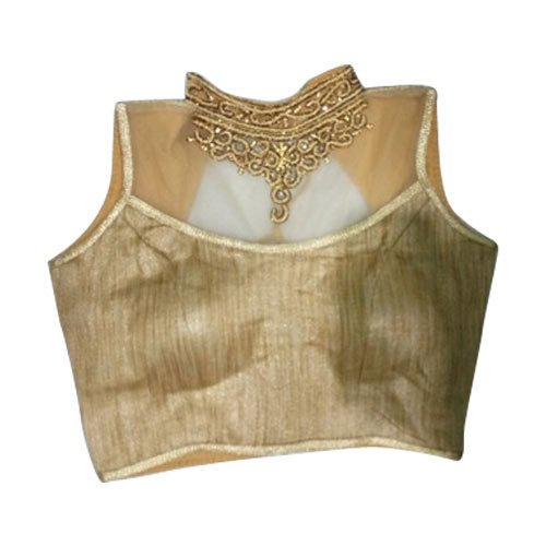 49156ed3479 Embroidered Golden Net Pattern Blouse, Size: 36, Rs 300 /piece   ID ...