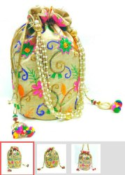 Multicolor Wedding Gifts Potli Bag