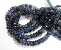 Natural Iolite Rondelle Faceted Beads