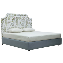 82inchL X 76inchW X 59.5inchH Upholstered Bed Alley
