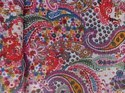 Multi Color Paisley Printed Kantha Quilt