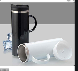 Lustre Stainless Steel Double Wall Mug