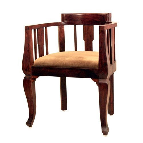 Wooden Brown Low Back Chair