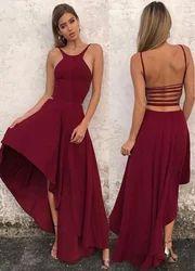 Silk Halter Neck Prom Dresses