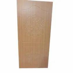 Laminated Brown PVC Membrane DOOR, Door Thickness: 30 Mm, Door Height: 6 Feet