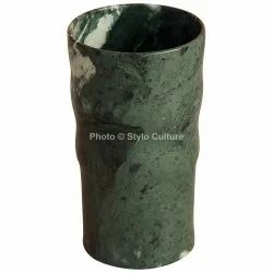 Superb Green Marble 3.5 Inch Flower Vase