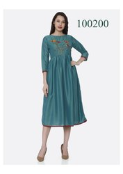 Mind Blowing Party Wear Fancy Kurti By Parvati Fabric