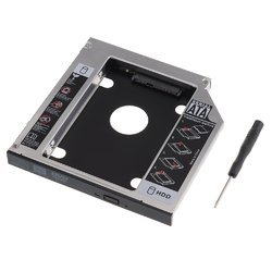 HDD Aluminium Hard Drive Caddy (sata) 9.5 Mm