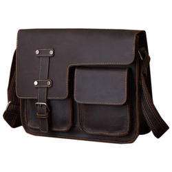 Pristino Brown Mens Vintage Leather Side Bags