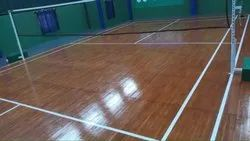 Polished Wooden Badminton Court Flooring
