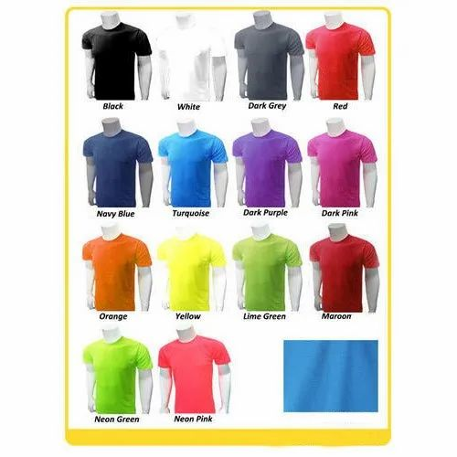 49bbbd3e Half Sleeves Mens Polyester Plain T-Shirts, Rs 75 /piece | ID ...
