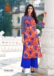 Party Wear Designer Pure Cotton Kurti