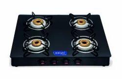Surya Accent 4 Black Burner Glass Top for Kitchen