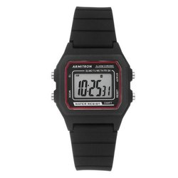 Casual Watches Black Armitron Sport 40-8447BLK Digital Chronograph Silicone Strap Watch