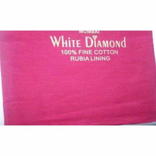 Pink Cotton Lining Fabric